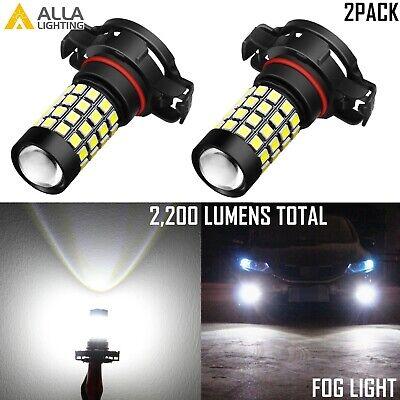 Alla Lighting 2600lm 6000K 5202 5201 LED Bulb White 1919SMD Fog Driving