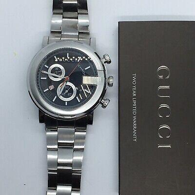 GUCCI G CHRONO 101M black dial chronograph men's date watch YA101309 #1J