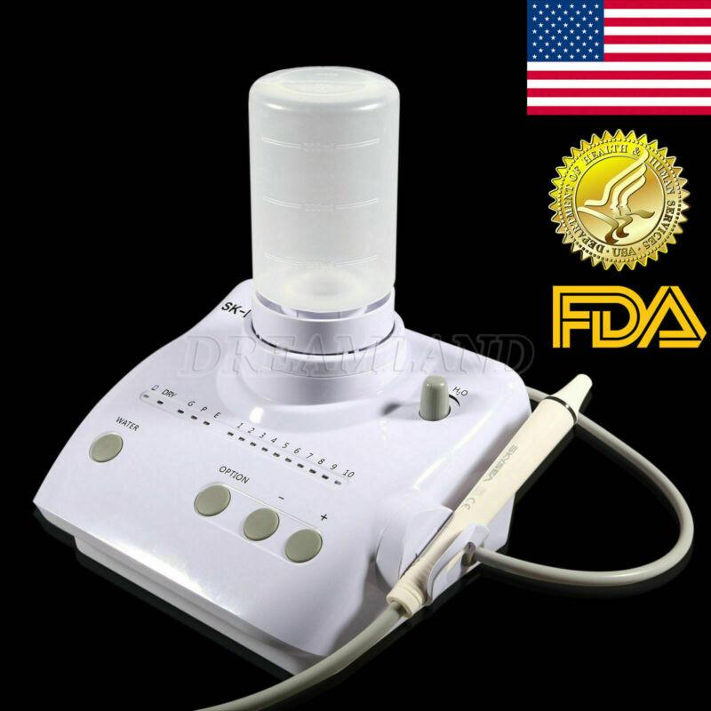 FDA Portable Dental Ultrasonic Scaler Fit EMS WOOKPECKER Handpiece & 2*Bottles