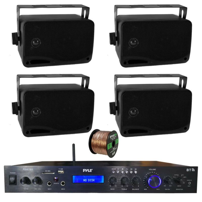 Home Amplified Bluetooth MP3 Receiver, 4x 3.5