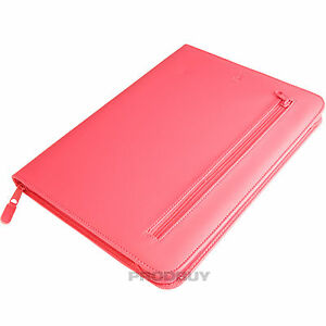 Hot-Pink-A4-Conference-Folder-Zipped-Business-Document-Portfolio-Faux-Leather