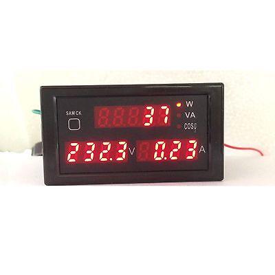 Ac 380v- 220v Digital Led 100a Watt Power Meter Volt Amp Ammeter Voltmeter 240v