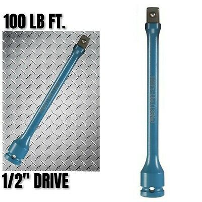 100 Foot Pound 12 Drive Torque Stick Extension Bar Impact Gun Lug Nut Lb Ft