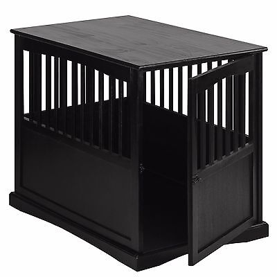 Dog Kennel Wood Bed Large Crate Oversized Pet Cage Wooden Furniture End Table NE