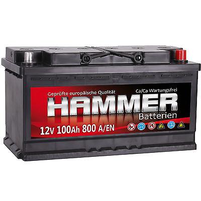 Autobatterie HAMMER 12V 100Ah Starterbatterie WARTUNGSFREI TOP ANGEBOT NEU online kaufen