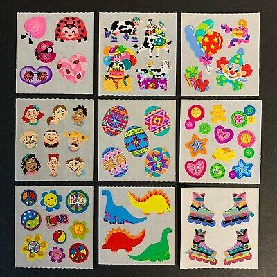 Sandylion Vintage Stickers ladybug cow party clown faces egg dinosaur peace love