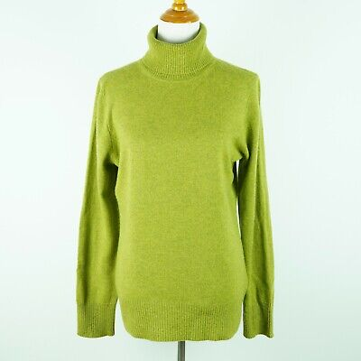 J Crew Collection Cashmere Turtleneck Sweater Womens XL Extra Large Apple Green