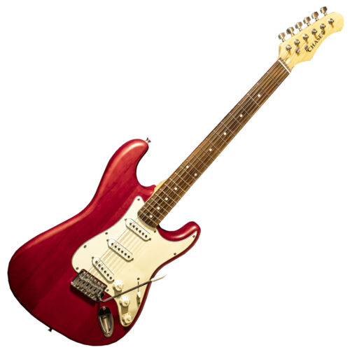 Chase Electric Guitar Strat Style Stratocaster S300TR In High Gloss Red - Z00