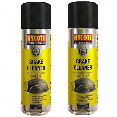 2 x Hycote Brake Disc Clutch Parts Cleaner Degreaser Remover Spray Aerosol 600ml