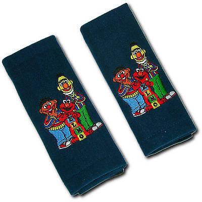 2 x Gurtschoner für Kinder (Sesamstraße: Elmo, Ernie und Bert) Auto Gurtpolster