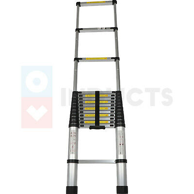 16.5 Feet Lightweight Foldable Telescoping Ladder Heavy Duty One Side Extension