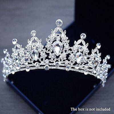 Tiara Cristal Corona Reina Concursos de Belleza Diadema Novia Estrás Pelo Boda