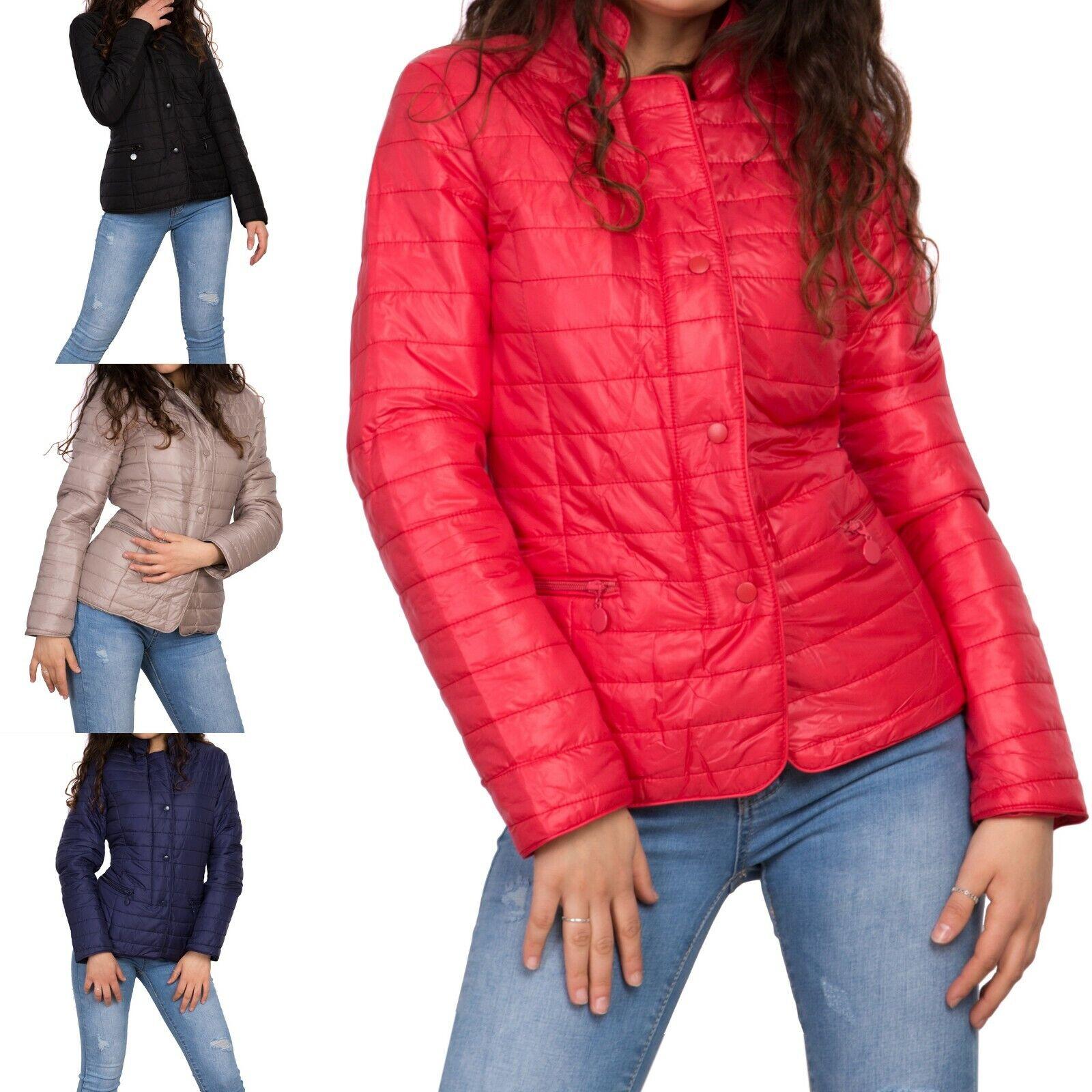 7525f7607abb Giacca donna 100 grammi piumino trapuntato bottoni taglie comode oversize  c-145.