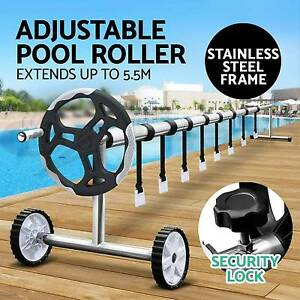 Swimming Pool Cover Roller Reel Adjustable Solar w Wheels Thermal Melbourne CBD Melbourne City Preview