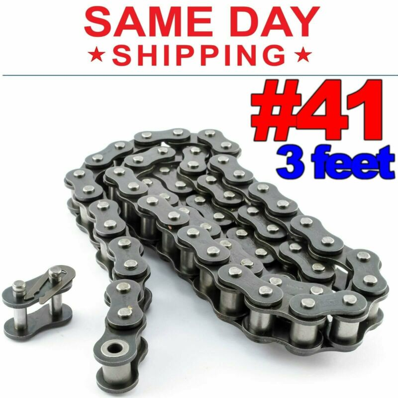#41 Roller Chain x 3 feet + Free Connecting Links + Same Day Shipping