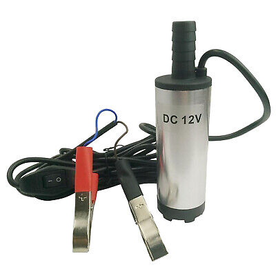 1pc Submersible Pump 38mm Water Oil Diesel Fuel Transfer Refueling Tool Dc 12v