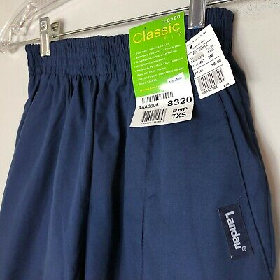 Landau Classic Fit Scrub Pants 8320 Womens BNP Navy Blue Front Seam New With -