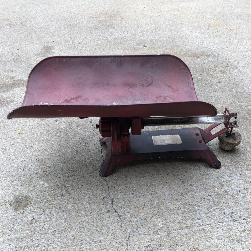 Vintage Cast Iron Detecto- beam type baby scale 30-pound Capacity, 1930s