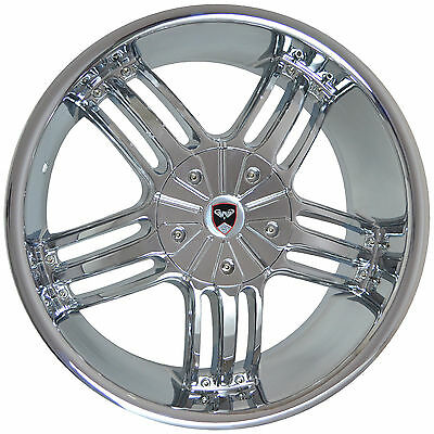 4 GWG WHEELS 22 inch Chrome SPADE Rims fits ET18 DODGE CHARGER SRT HELLCAT 2014