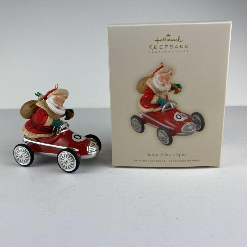 Hallmark 2008 - Santa Takes A Spin - Keepsake Car Ornament