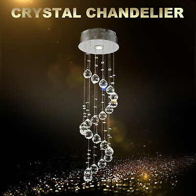 Ceiling Hanging Decorations (Spiral Crystal Chandelier Chrome Pendant Hanging Lights Ceiling Light)