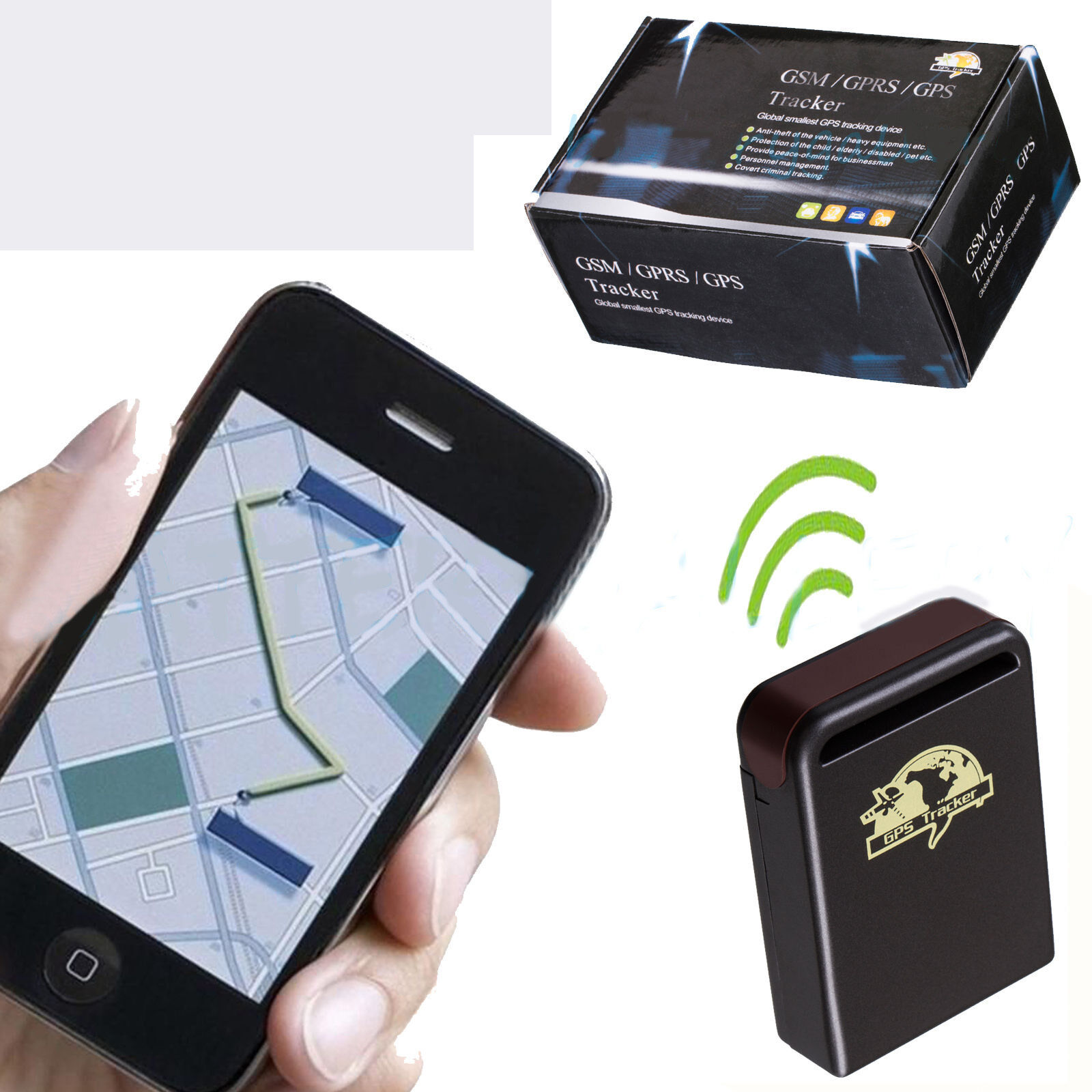 Gps Tracking Device For Car >> RealTime GPS Tracker GSM GPRS System Vehicle Tracking ...
