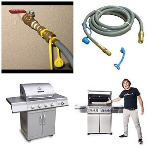 Gas line installation available for BBQ