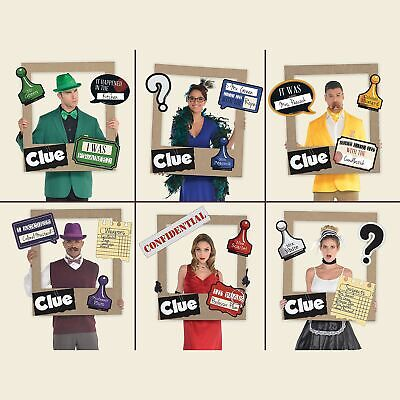 Giant Clue Photo Frame Supplies, 19 Pieces, 18 Cutouts for a Selfie Station ()