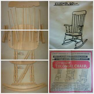 Brand New Beechwood Colonial Rocking Chair Flat Pack (NOS) Japan