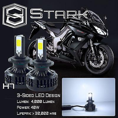2Pcs 40W 4000LM LED Motorcycle Headlight Conversion Kit 6000K 6K White Bulb - H7