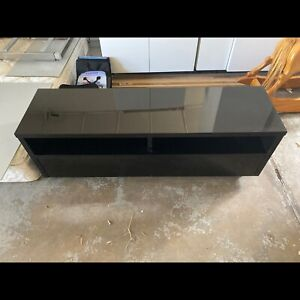 Modern black tv cabinet