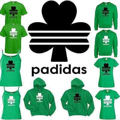 padidas T Shirt Vest Hoody Sweatshirt Strappy Top Hoodie sweater St Patricks Day