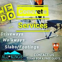 Affordable Concrete Services by All Kings Construction