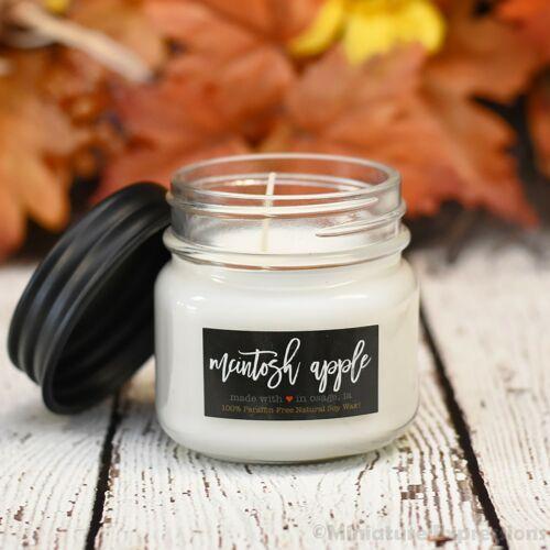 McIntosh Apple - 7oz Farmhouse Mini Mason Jar Candle