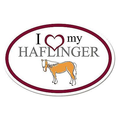 I Love My Haflinger Oval Vinyl Sticker Decal