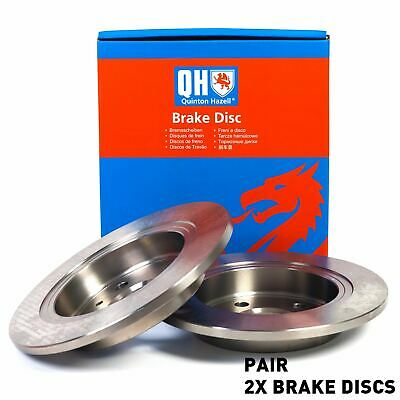 QH BDC5318 Rear Axle Solid Pair of Brake Disc