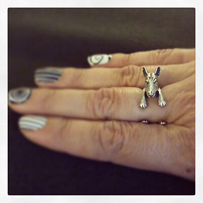 Nails the BT! adjustable ring bull terrier puppy dog silver metal cute funny