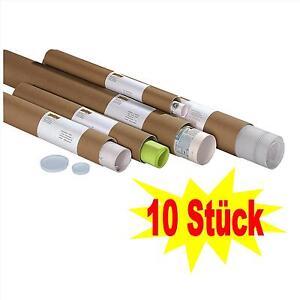 10 Stück Versandhülsen DIN A0 100,0 x 9,5 cm Versandrolle Posterrolle Papprolle
