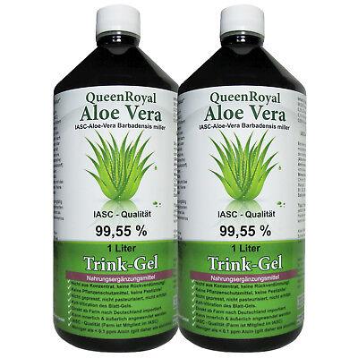QueenRoyal Aloe Vera Trink Gel 99.55% pur 2 Liter Sparpack #30256-G