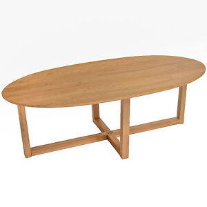 Solid Oak Oval Coffee Table Ebay