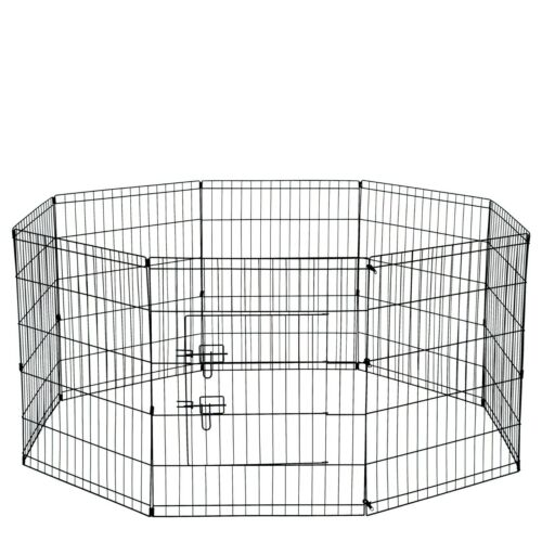 "30"" Tall Wire Fence Pet Dog Folding Exercise Yard 8 Panel Metal Play-Pen"