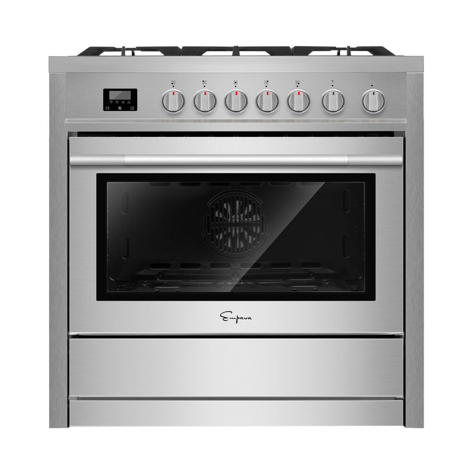 "Empava 36"" Slide-In Single Oven Gas Range with 5 Burners Coo"