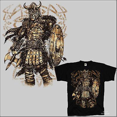 *4224 bl Gothic Odin Thor Celtic Kelten Germanen T-Shirt Wikinger Mittelalter