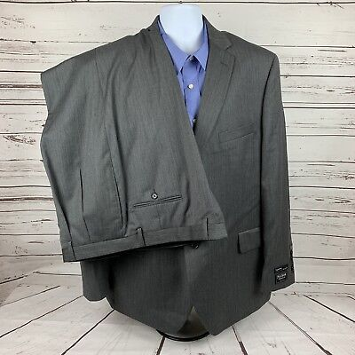 Jos A Bank Signature Collection Trad. Fit Gatsby Herringbone Gray Suit MSRP $858 - Gatsby Mens Suits