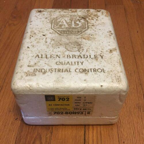 Allen Bradley 702-BOH93 AC Contactor Size 1 208 V 3-Pole 27-Amp OPEN B0H