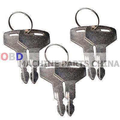 6x Keys For Takeuchi Switch Tl130 Tl150 Tb125 Tb135 Tb145 Tb175 17001-00023