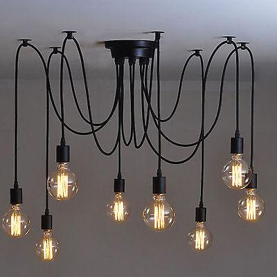 Vintage Leuchte Retro Deckenlampe Pendelleuchte Kronleuchter Loft Edison Lampen (Edison Lampe Leuchte)