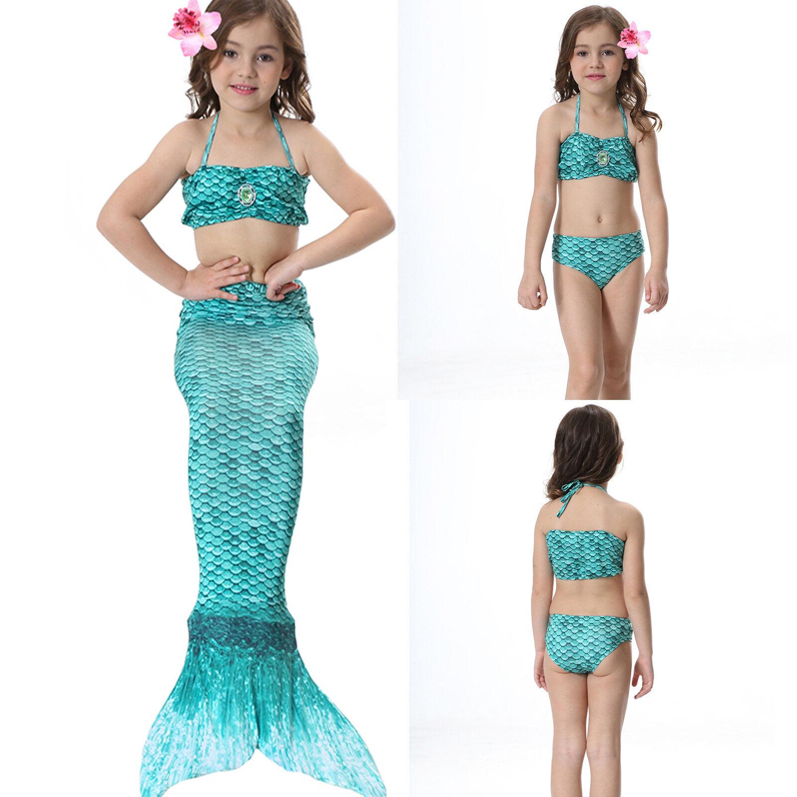 Kinder Meerjungfrau Kostüm Mädchen Bademode Badeanzug Cosplay Sommer Bikini Set