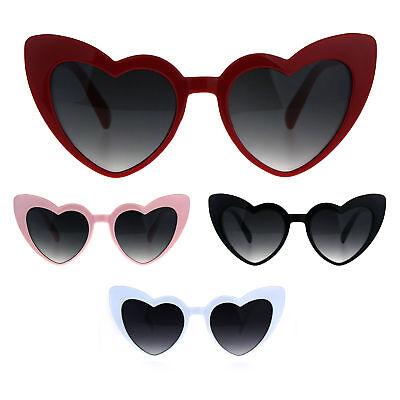 Oversize Heart Shape Cat Eye Retro Womens Plastic (Cat Eye Shaped Sunglasses)