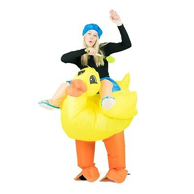 Adult Funny Inflatable Blow Up Duck Costume Outfit Suit Halloween Party One Size](Funny Blow Up Halloween Costumes)